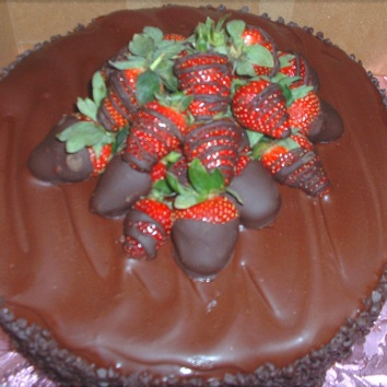 Triple Chocolate with Strawberries