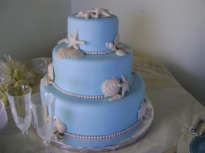 Tracy and Scott wedding cake